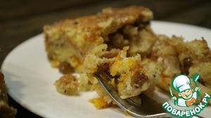 Рецепт: Быстрый пирог с тыквой и яблоками