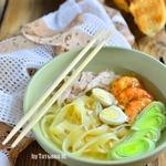 Куриный суп-лапша с креветками