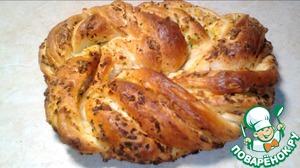 Рецепт: Пирог с яйцом и зеленым луком