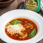 Томатный суп с грибами и фаршем