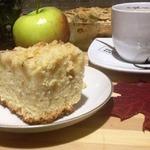 Яблочный кухен на белом вине