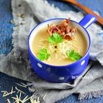 Картофельный суп-пюре с беконом и чесноком