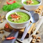 Суп-пюре с брокколи и копченым сыром