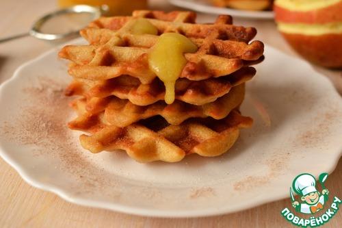 Яблочные вафли на минеральной воде