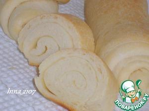 Рецепт: Слоеный хлеб-батон