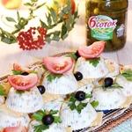 Заливной салат Оливье с горбушей