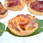 Яблочные тарталетки Карамельные цветы