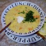 Картофельно-яичный суп на сале