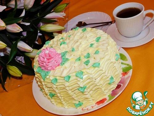 """Торт """"Клубничная нежность"""""""