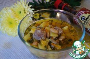 Рецепт: Суп фасолевый с фрикадельками