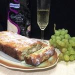 Кекс с виноградом и шампанским