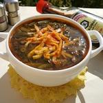 Шпинатный суп с ленивыми фрикадельками
