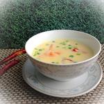 Острый суп с кукурузой и креветками