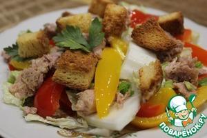 Рецепт: Салат с тунцом и сладким перцем