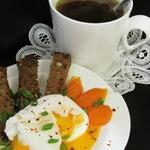 Пряный бульон с яйцом-пашот и гренками