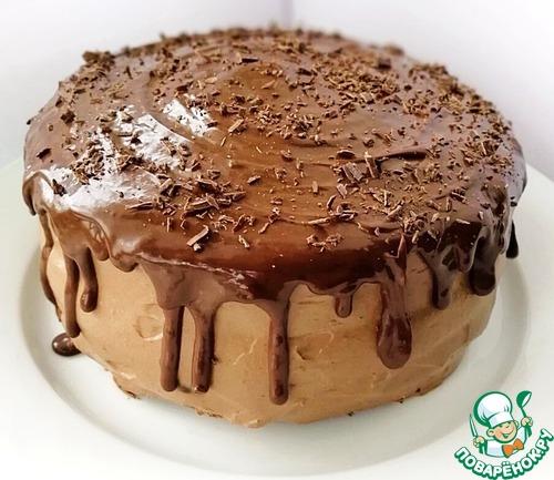 """Торт """"Шоколадно-брусничный глинтвейн"""""""