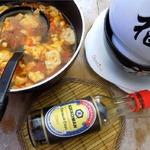 Томатный суп с яичными лепестками