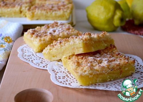 Лимонные квадратики с кокосовой крошкой
