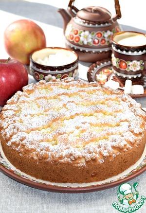 """Рецепт: Пирог с яблоками """"Нежный"""""""