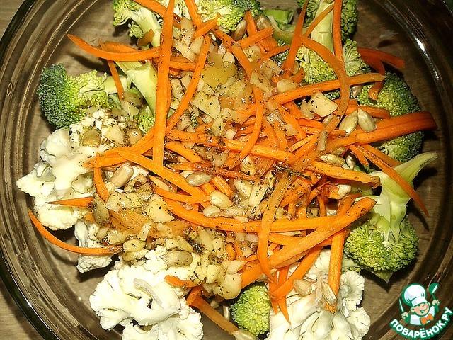 салаты с капустой брокколи и цветной рецепты с фото