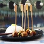 Азиатские мясные фрикадельки в соусе