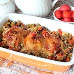 Куриные бедра в перечно-баклажанном соусе
