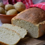 Белый картофельный хлеб