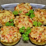 Картофельные тарталетки с куриной начинкой