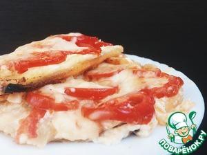 Рецепт: Кабачки с сыром и помидорами «Огоньки»