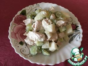 """Рецепт: Салат из дыни """"На любителя"""""""