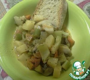 Рецепт: Тушеные овощи