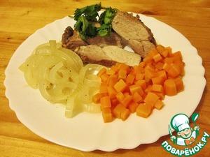 Рецепт: Свинина в луке