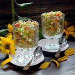 Тёплый куриный салат с овощами