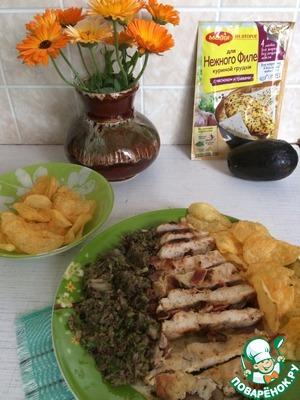 Рецепт: Закуска из авокадо и курицы