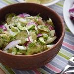 Салат из трех видов огурцов
