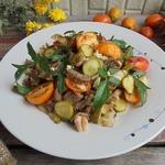 Салат из баранины с огурцами