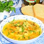 Фасолевый суп с квашеной капустой