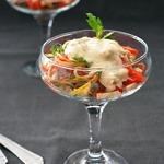 Салат с бужениной и маринованным огурцом