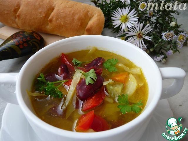 Суп с фасолью и квашеной капустой рецепт