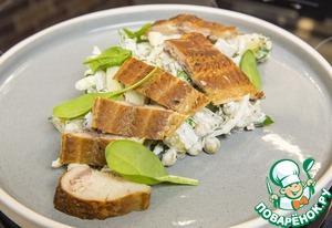 Салат с рыбой горячего копчения поваренок