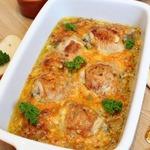 Куриные бедра в луково-сырном соусе