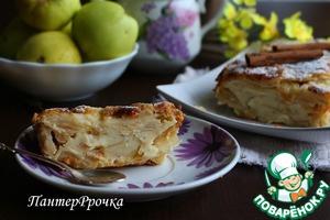 """Рецепт: Яблочный пирог """"Невидимый"""""""