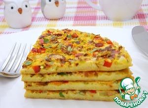 Рецепт: Овсяный омлет с овощами