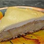 Яблочный пирог с творожным кремом