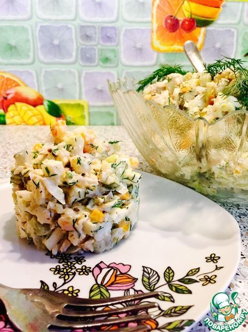 Рецепты салатов из отварной рыбы с