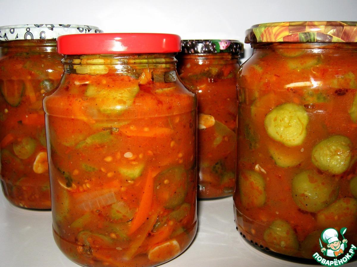 сколько закатать огурцы в томатном соусе там остались только