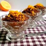 Каша-десерт с апельсином и какао