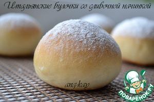 Рецепт: Итальянские булочки со сливочной начинкой