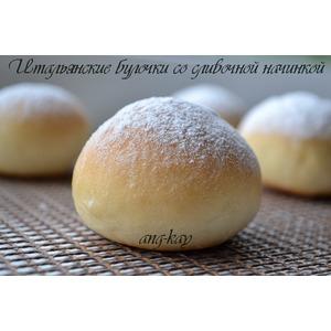 Итальянские булочки со сливочной начинкой