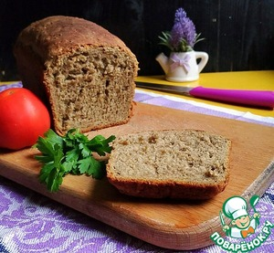"""Рецепт: Гречнево-конопляный хлеб """"К завтраку"""""""